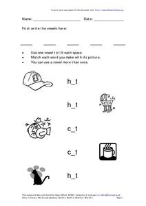 Entry 1 Numeracy--Word Level (Phonics) Worksheet