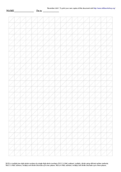 grid paper with diagonal lines worksheet for 5th 6th grade lesson planet. Black Bedroom Furniture Sets. Home Design Ideas