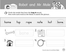 Robot and Mr. Mole Worksheet