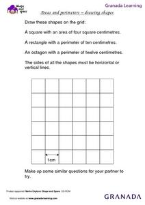 Areas and Perimeters: Drawing Shapes Lesson Plan