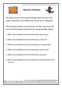 Halloween Probability Worksheet