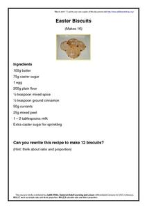 Easter Biscuits Worksheet