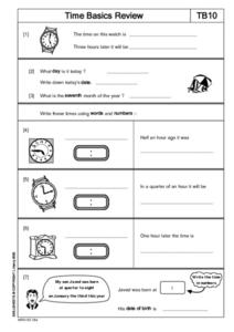 Time Basics Review Lesson Plan