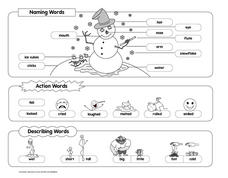 Cute Snowman Worksheet