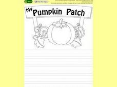 My Pumpkin Patch Worksheet