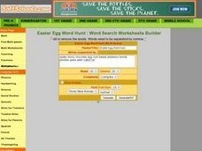 Easter Egg Word Hunt Worksheet