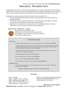 Descriptive Persuasive Texts Worksheet