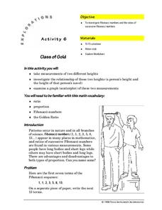 Class of Gold Lesson Plan
