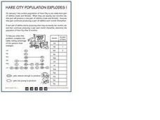 Hare City Population Explodes Worksheet