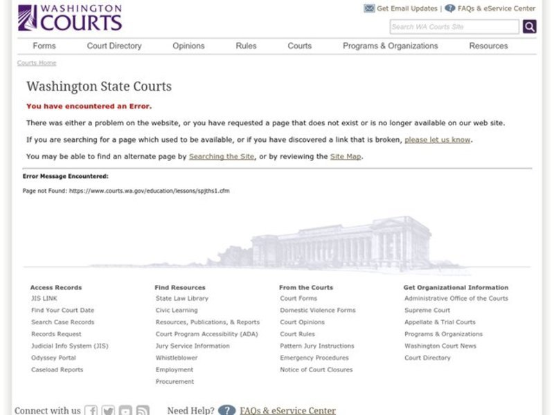 Claim Your Jurisdiction Game: Getting Ready For Moot Court Lesson Plan