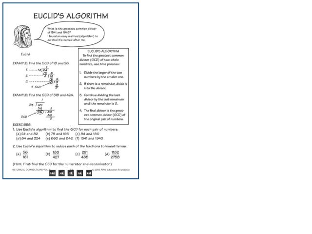 euclid 39 s algorithm worksheet for 5th 6th grade lesson planet. Black Bedroom Furniture Sets. Home Design Ideas