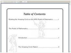 Relating The Amazing Circle To The AIMS Model Of Mathematics Worksheet