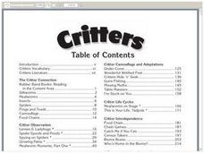 Critters Worksheet