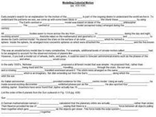 Modeling Celestial Motion Worksheet