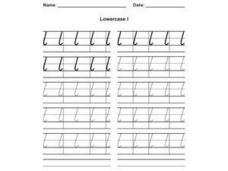 Lowercase l Worksheet