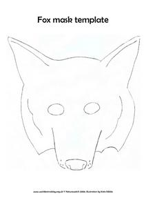 Fox Mask Template Lesson Plan