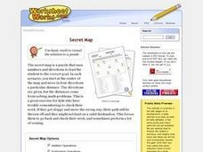 Secret Map Worksheet