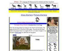 Printable Story Starter: Grandmother's Cottage Writing Prompt