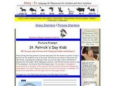Picture Prompt: St. Patrick's Day Kids Worksheet