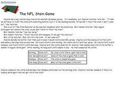 The NFL Stain Game Worksheet