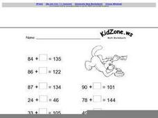 Math Worksheets With Blanks Worksheet