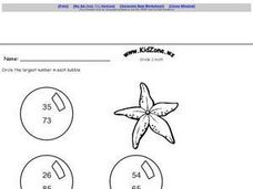 Circle the Largest Number Worksheet