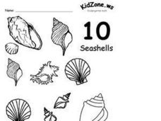 Kindergarten Math- The Number 10 Worksheet