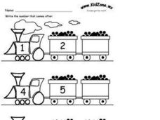 Train Counting Worksheet