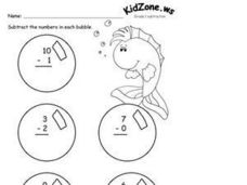 Bubbles Subtraction Worksheet