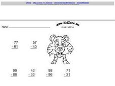 Kid Zone Grade 2 Addition I Worksheet