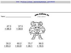 Kid Zone Grade 3 Addition V Worksheet