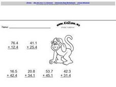Kid Zone Grade 3 Addition IV Worksheet