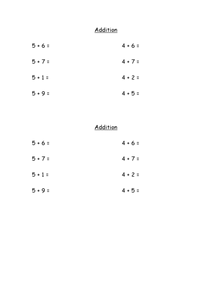 Using a Number Line for Addition and Subtraction Worksheet