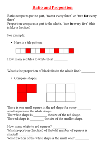 Ratio and Proportion Problems Worksheet