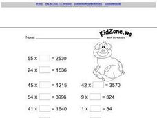 Kid Zone Math Worksheets 2 Worksheet