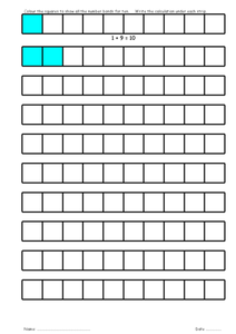 Number Bonds Bars Worksheet