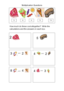 Multiplication Questions Worksheet
