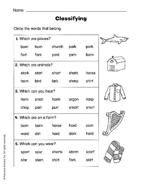 classifying worksheet for 2nd 3rd grade lesson planet. Black Bedroom Furniture Sets. Home Design Ideas