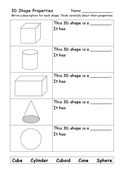 3d shape properties faces edges corners worksheet for 4th 5th grade lesson planet. Black Bedroom Furniture Sets. Home Design Ideas