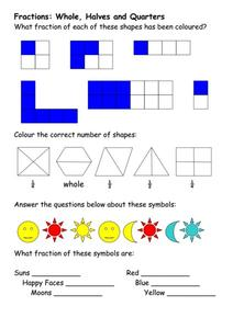 Color The Fractions Worksheet