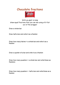 Chocolate Fractions Worksheet