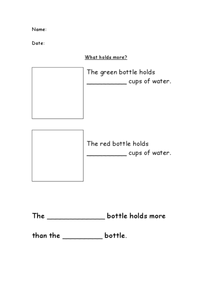 What Holds More? Worksheet