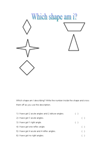 Which Shape Am I Describing? Worksheet
