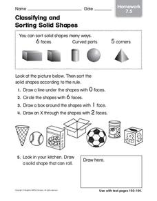 classifying and sorting solid shapes worksheet for 1st grade lesson planet. Black Bedroom Furniture Sets. Home Design Ideas