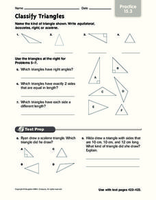 Classify Triangles: Practice Worksheet