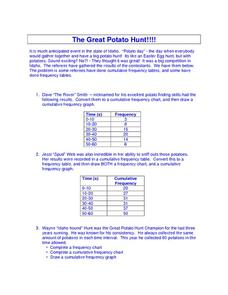 The Great Potato Hunt Worksheet