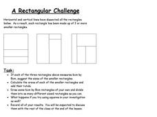 A Rectangular Challenge Worksheet