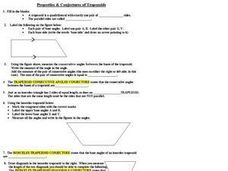 Properties and Conjectures of Trapezoids Worksheet