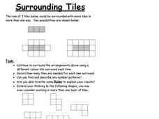 Surrounding Tiles Worksheet