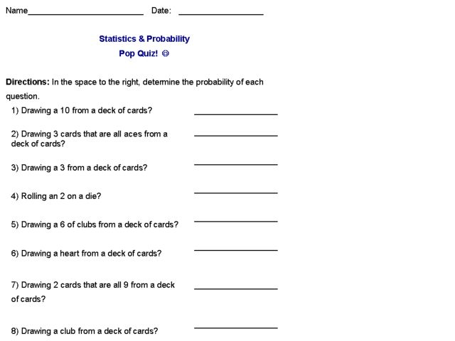 Maths Probability Worksheets probability worksheets math – Probability Worksheets 6th Grade